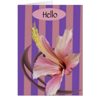 Cartes salutation, bonjour