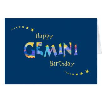 Cartes Salutation d'anniversaire de signe de zodiaque de