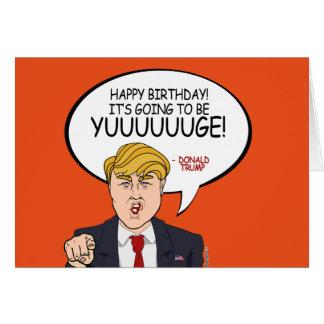 Cartes Salutation de Donald Trump - joyeux anniversaire