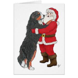 Cartes Salutation de Noël de chien de montagne de Bernese