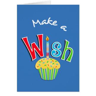 Cartes Salutation de petit gâteau et de bougie de joyeux