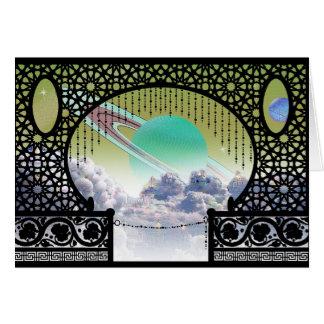 Cartes Salutation de voyage interplanétaire