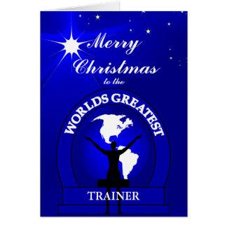 Cartes Salutation d'entraîneur des mondes de Noël la plus