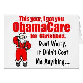 Cartes Salutation drôle de Noël d'ObamaCare