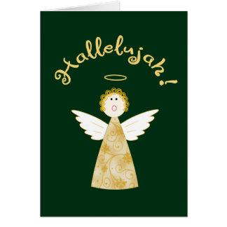 Cartes Salutation drôle de vacances de Noël d'ange