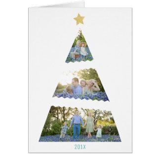 Cartes Salutation moderne de vacances d'arbre de Noël de