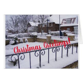 Cartes Salutation neigeuse de jardin de Noël