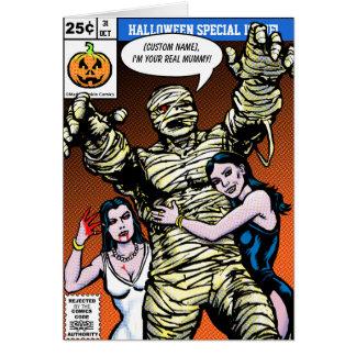 Cartes Salutations comiques de Halloween de style