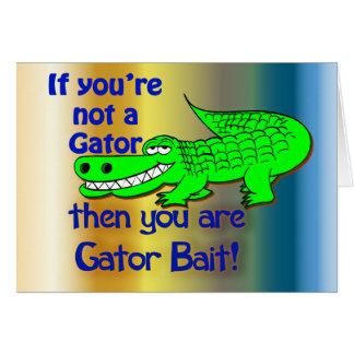 Cartes Salutations d'amorce d'alligator