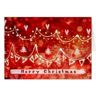 Cartes Salutations de fête de Noël de guirlandes