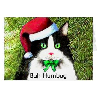 Cartes Salutations de fumisterie de Bah de chat de Kitty