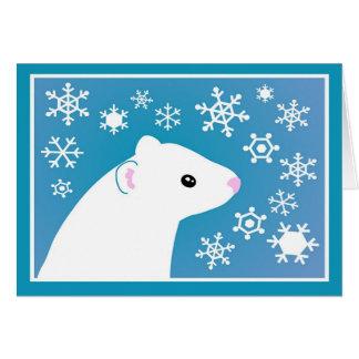 Cartes Salutations de furet d'hiver