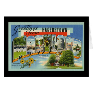 Cartes Salutations de Hagertown le Maryland