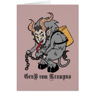 Cartes Salutations de Krampus dans le gris