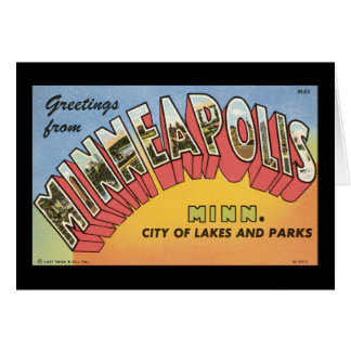 Cartes Salutations de Minneapolis