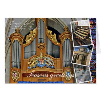 Cartes Salutations de Noël de Londres d'église de temple