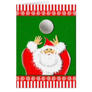 Cartes Salutations de Noël de volleyball