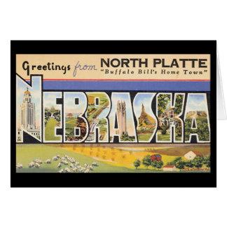 Cartes Salutations de platte du nord Nebraska_Vintage