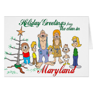 Cartes Salutations de vacances du Maryland