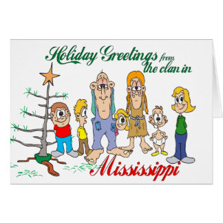 Cartes Salutations de vacances du Mississippi