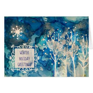 Cartes Salutations d'hiver de Starlight