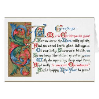 Cartes Salutations médiévales de Noël de défilement