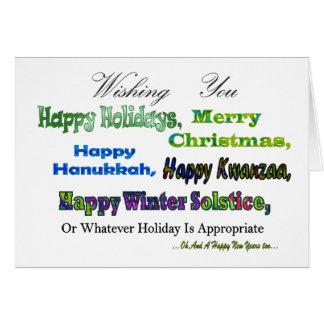 Cartes Salutations multi vertes de vacances