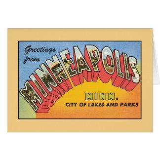 Cartes Salutations vintages de Minneapolis Minnesota