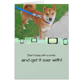 Cartes Sam le Shiba de sourire Inu