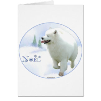 Cartes Samoyed Noel