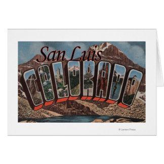 Cartes San Luis, le Colorado - grandes scènes de lettre