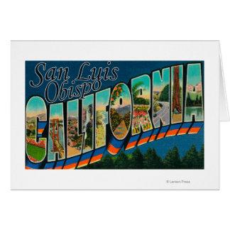 Cartes San Luis Obispo, la Californie - grande scène de