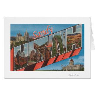 Cartes Sandy, lettre ScenesSandy, UT d'UtahLarge