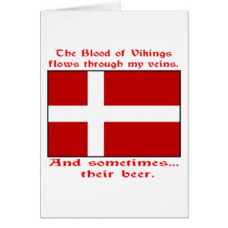 Cartes Sang danois et bière Viking