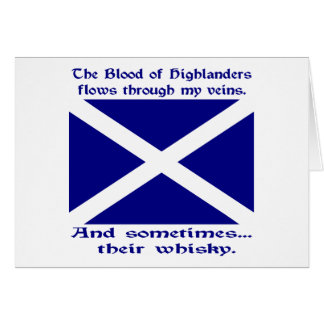 Cartes Sang écossais et whiskey de montagnard