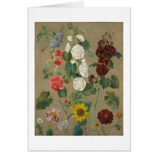 Cartes Sans titre (fleurs) (huile à bord)