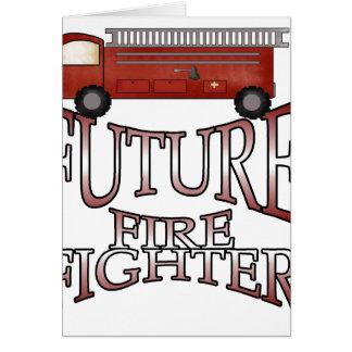 Cartes Sapeur-pompier d'avenir de pompe à incendie