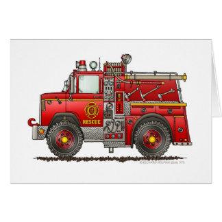 Cartes Sapeur-pompier de camion de pompiers de délivrance