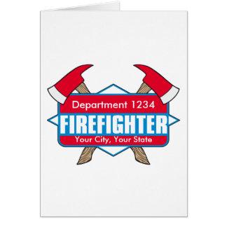 Cartes Sapeur-pompier fait sur commande avec des haches