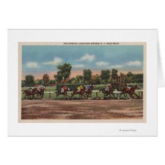 Cartes Saratoga Springs, NY - scène de voie de course de