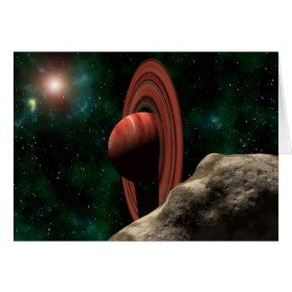 Cartes Saturn aiment la planète