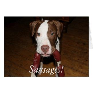 Cartes saucisses de chien !