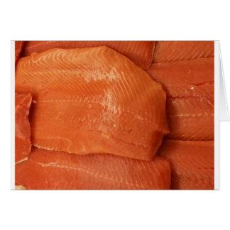 Cartes Saumon ceint d'un bandeau