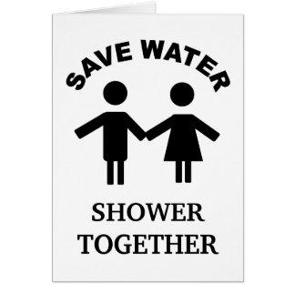 Cartes Sauvez la douche de l'eau cardent ensemble
