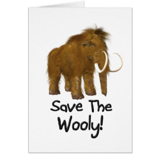 """Cartes """"Sauvez"""" le mammouth Wooly Wooly"""