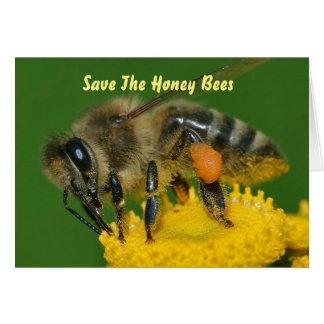 Cartes Sauvez le vert d'abeilles