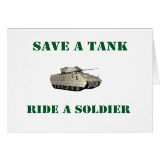 Cartes Sauvez un tour de réservoir un soldat 4