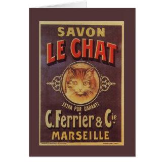 Cartes Savon français vintage de Savon Le Chat Fine
