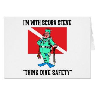 Cartes SCAPHANDRE drôle Steve