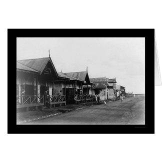 Cartes Scène 1908 de rue de Nairobi Kenya
